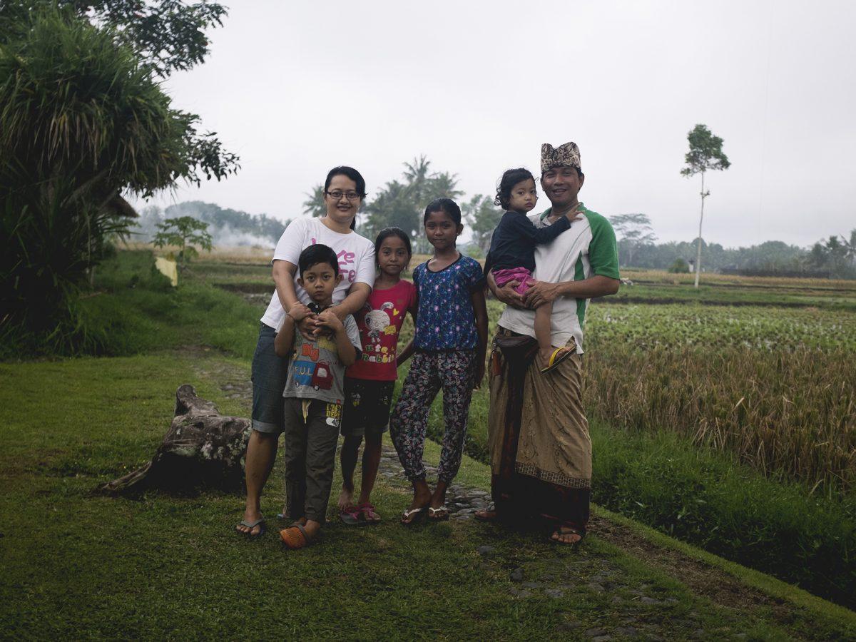 Rai Dewa and his family, Bali Naturewalks